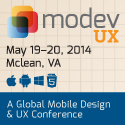 modevUX 2014 - May 19-20 in McLean, VA